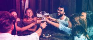 Group of people drinking beer